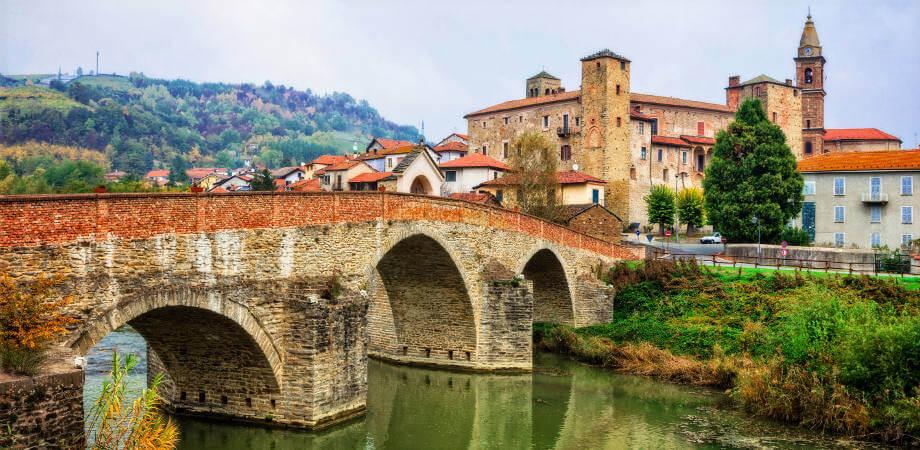 Impressive medieval Bormida monastery and castle in regione Asti