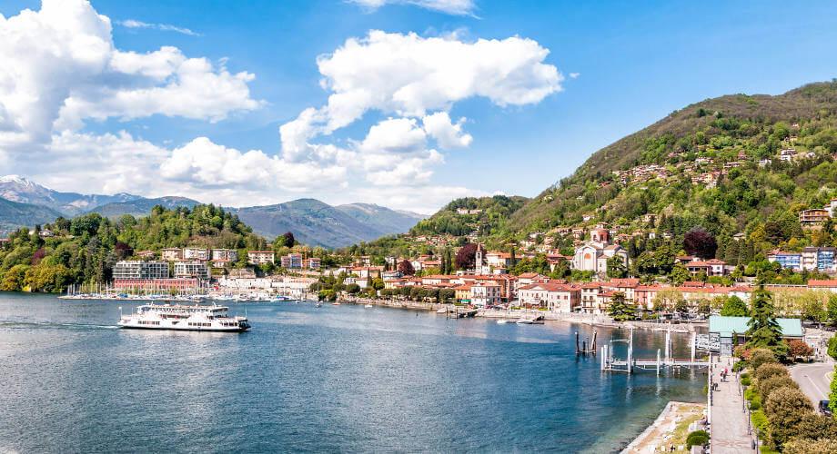 Laveno-Mombello on Lake Maggiore,Varese, Italy