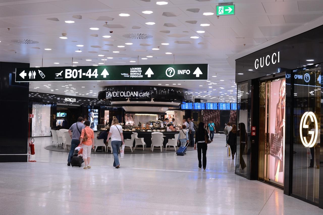 Passengers at Milano Malpensa Airport