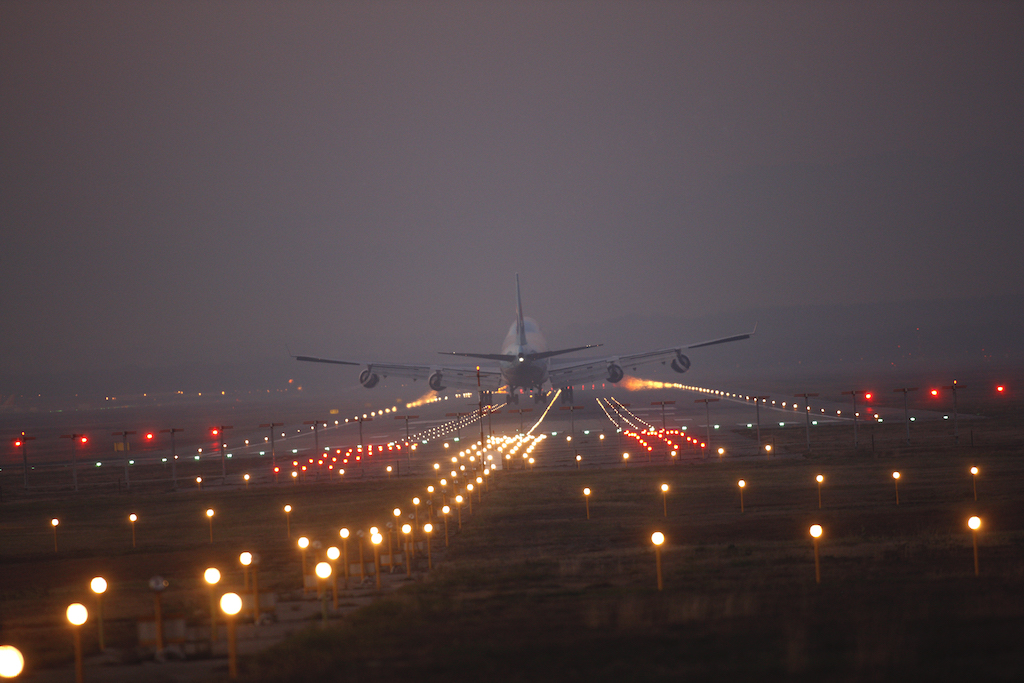 Plane landing at Malpensa