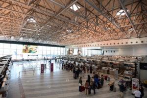 Inside Malpensa Airport terminal